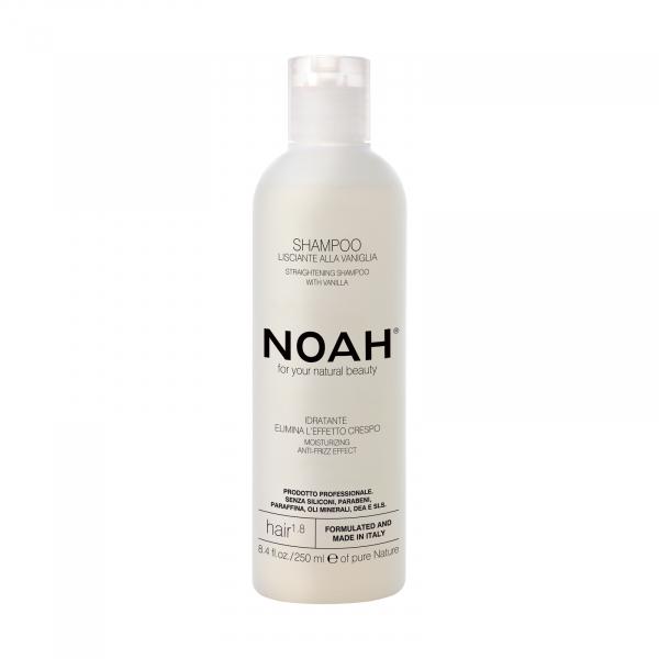 Sampon natural pentru indreptarea parului cu extract de vanilie, 1.8, Noah, 250 ml [0]