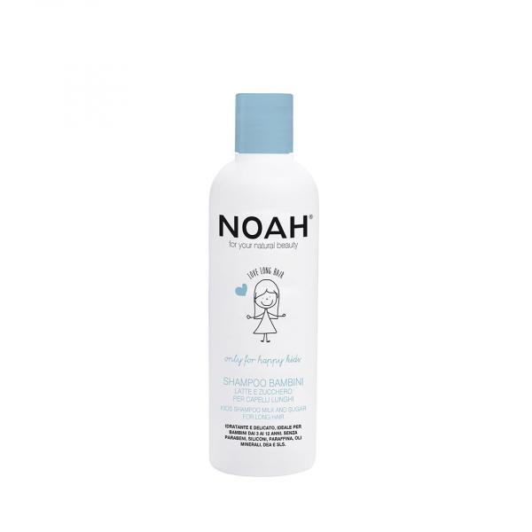 Sampon pentru copii cu lapte zahar pentru par lung, Noah, 250 ml 0