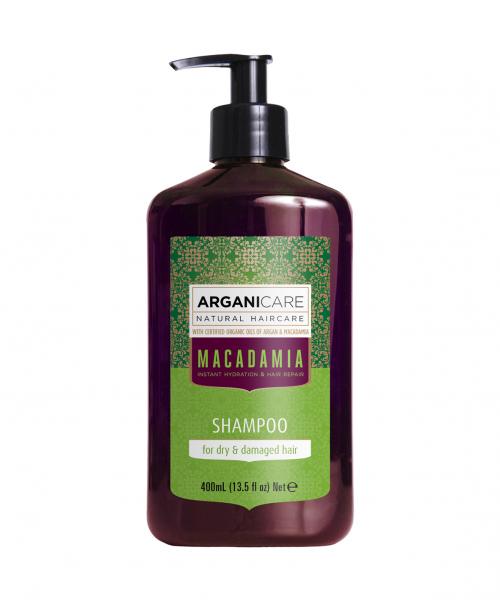 Sampon revitalizant cu ulei de macadamia pentru par uscat si deteriorat, Arganicare, 400 ml 0