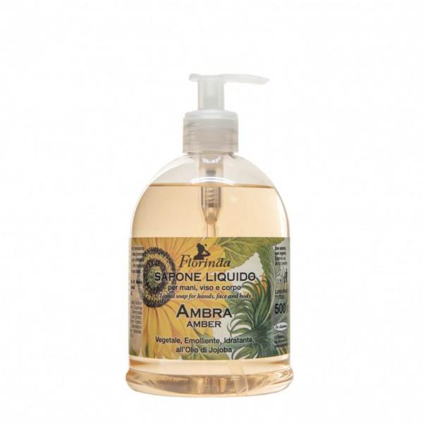 Sapun lichid hidratant cu chihlimbar si ulei de Jojoba Florinda, 500 ml La Dispensa [0]