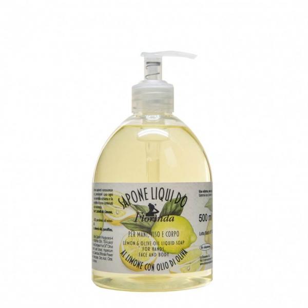 Sapun lichid vegetal hidratant cu lamaie si ulei de masline, Florinda, 500 ml, La Dispensa 0