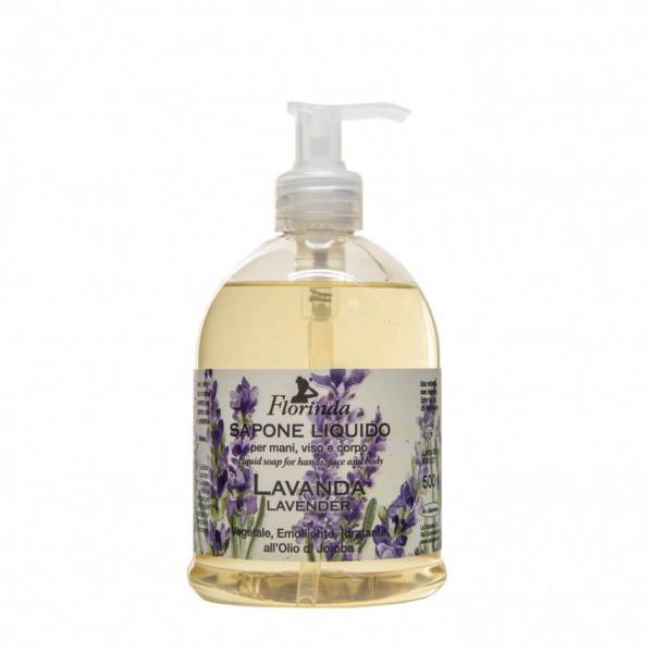 Sapun lichid vegetal hidratant cu lavanda si ulei de Jojoba, Florinda, 500 ml La Dispensa 0