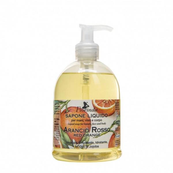 Sapun lichid vegetal hidratant cu portocale rosii si ulei de Jojoba, Florinda, 500 ml La Dispensa [0]
