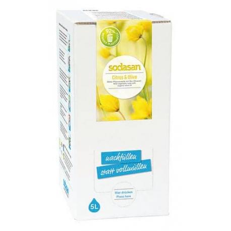 Sapun lichid gel de dus bio citrice masline 5L Sodasan 0