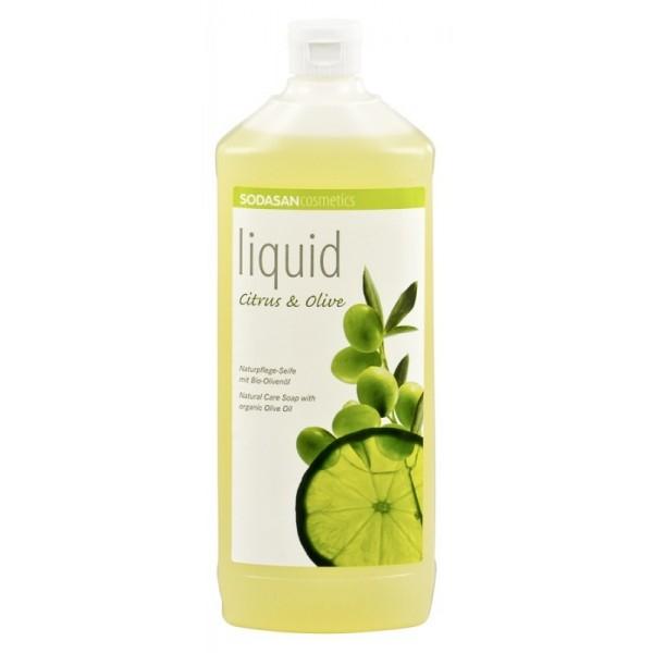 Sapun lichid/gel de dus ecologic Citrice - Masline 1L 0