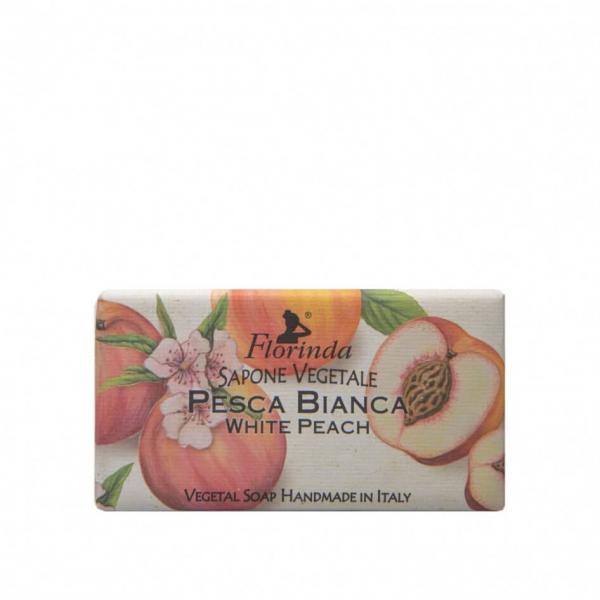 Sapun vegetal cu piersici albe Florinda, La Dispensa, 100g [0]