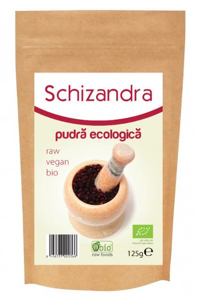 Schizandra pulbere raw eco 125g 0