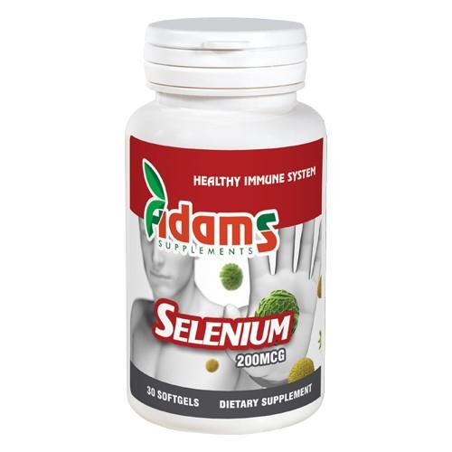 Seleniu organic 200mcg, 30 tablete , Adams Supplements 0