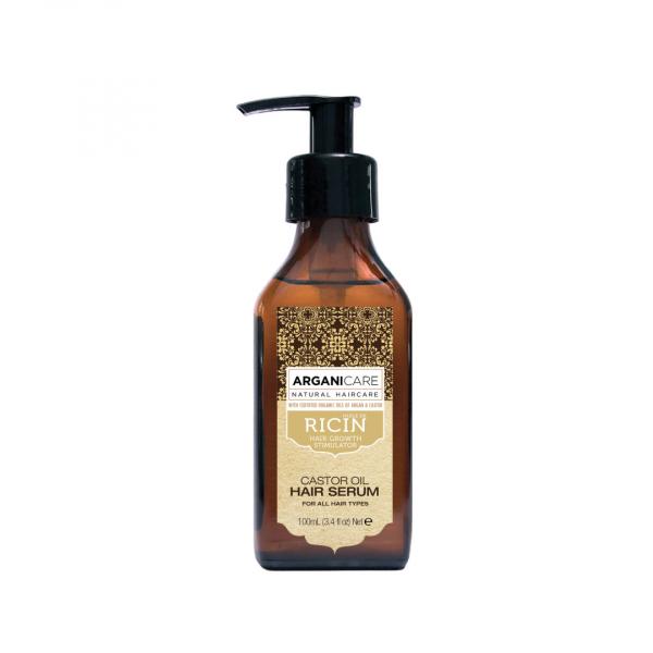 Serum protector si regenerant cu ulei de ricin pentru toate tipurile de par, Arganicare, 100 ml 0