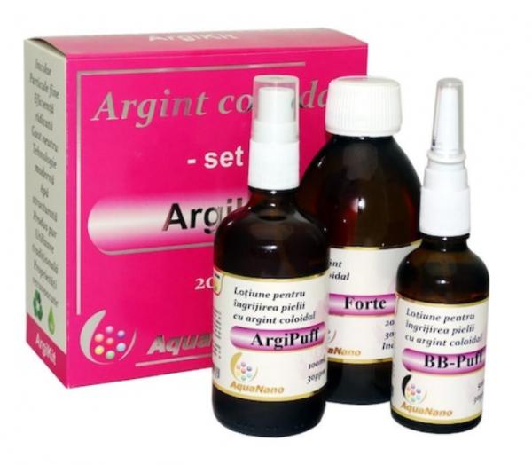 Set Argint Coloidal ArgiKit (forte 100ml+argipuff 100ml+bb-puff 50ml) 30ppm, Aghoras Invent 0