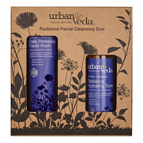 Set cadou Radiance Facial Cleansing Duo, Urban Veda [0]