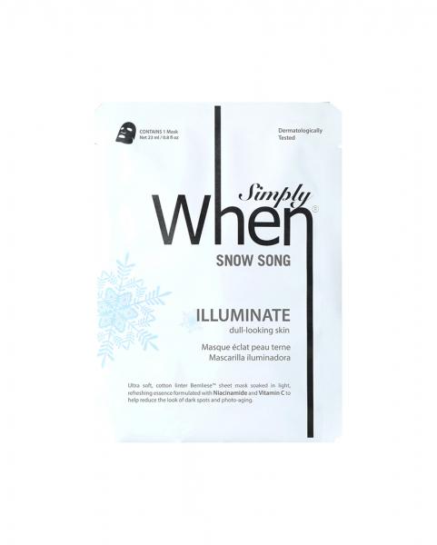 Masca pentru luminozitate cu vitamina C, Snow Song, 23 ml, Simply When [0]