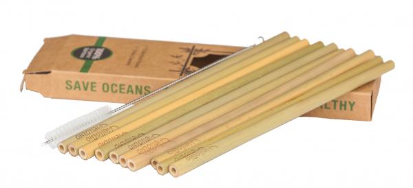 Set paie din bambus (10 bucati), galben 2