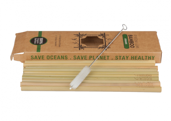 Set paie din bambus (10 bucati), galben 0