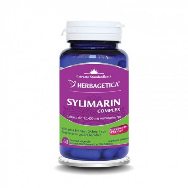 Silymarin complex, 60 capsule vegetale, Herbagetica 0