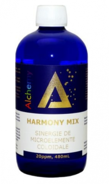 Sinergie de argint, magneziu si cupru coloidal, Harmony Mix, 20ppm, 480ml, Aghoras Invent 1