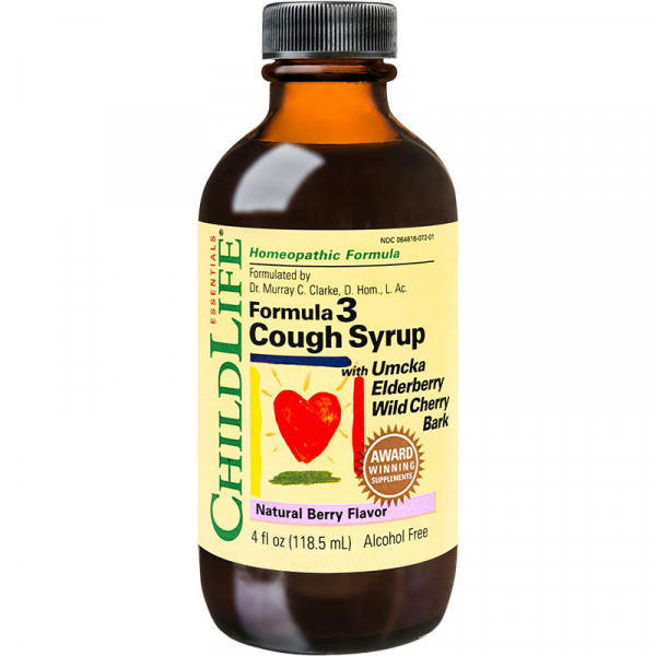 Cough Syrup gust de fructe Childlife Essentials, 118.5 ml 0