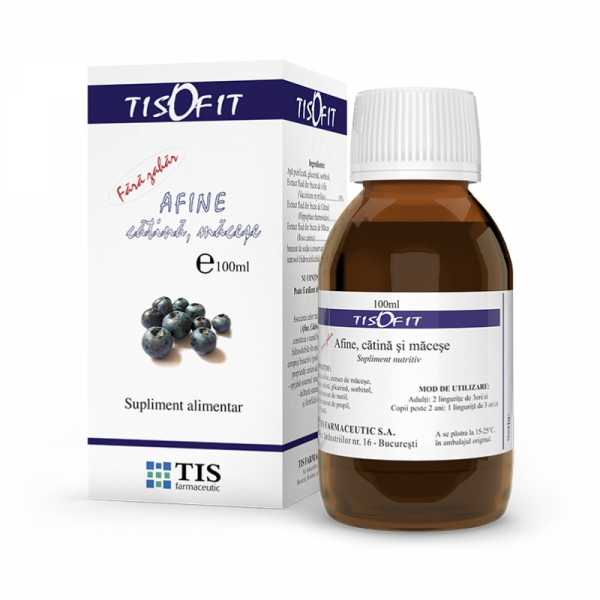Sirop de afine, cătina și maceșe, 100 ml, Tis Farmaceutic [0]