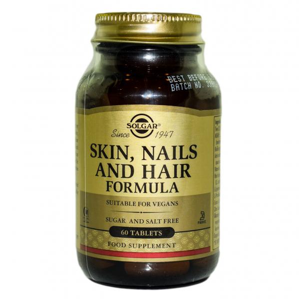 Formula pentru piele, unghii și par, 60 tablete, Solgar 0