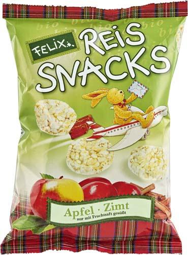 Snacks bio din orez cu mere si scortisoara FARA GLUTEN 0