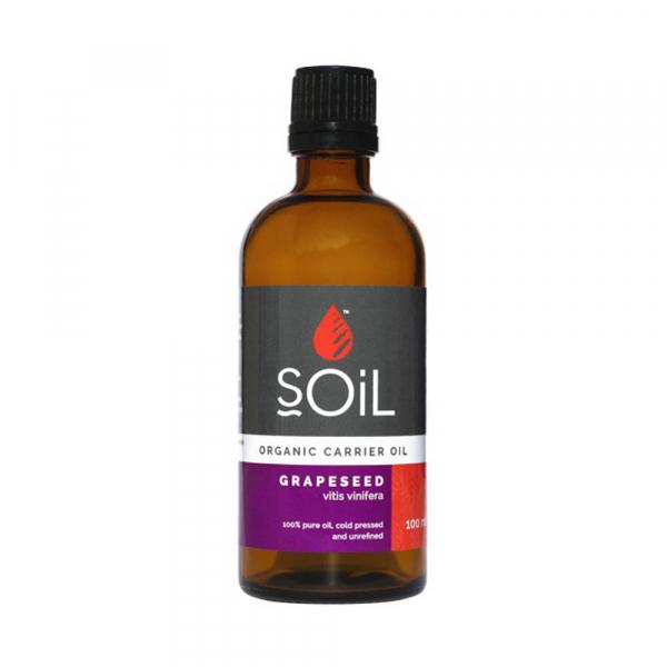 SOiL Ulei Baza Grape Seed - Seminte de struguri - 100% Organic ECOCERT 100ml 0