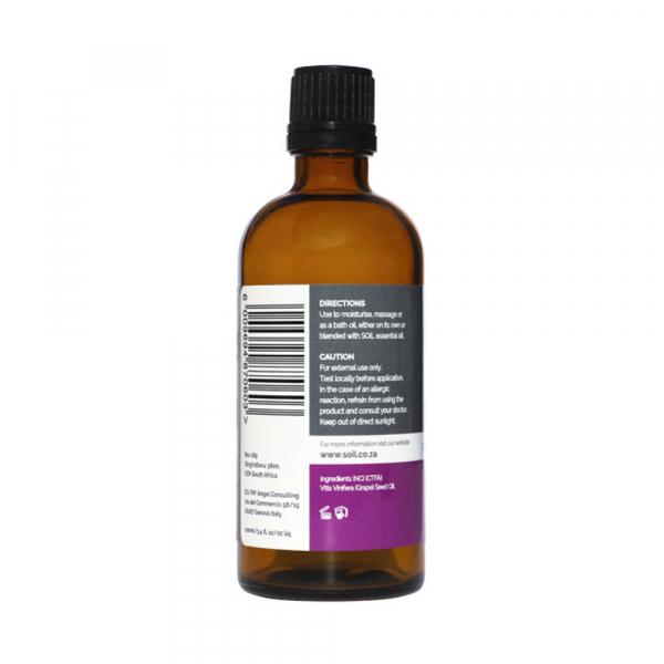 SOiL Ulei Baza Grape Seed - Seminte de struguri - 100% Organic ECOCERT 100ml 1