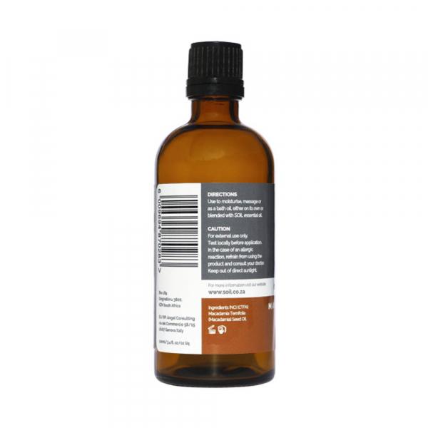 SOiL Ulei Baza Macadamia Nut - Nuci de Macadamia - 100% Organic ECOCERT 100ml 1
