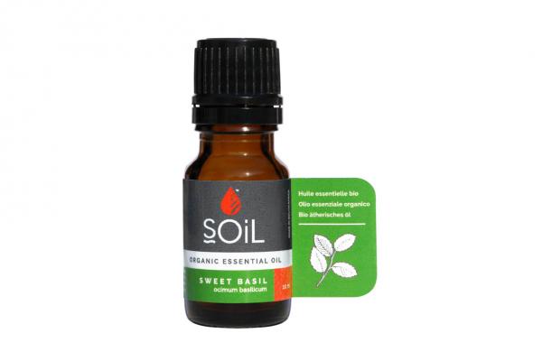 SOiL Ulei Esential Basil - Busuioc 100% Organic ECOCERT 10ml 0