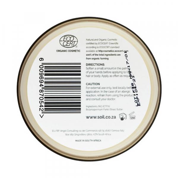 SOiL Unt Shea Fair Trade Pur Inodor 100% Organic ECOCERT 100ml [1]