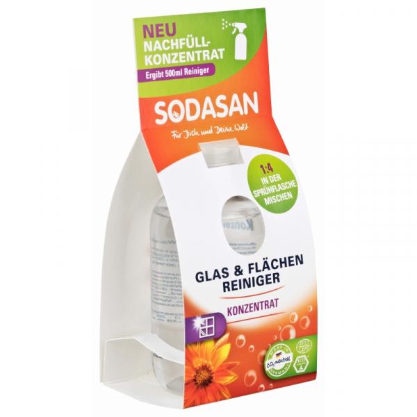 Solutie bio de curatare a geamurilor concentrata 100 ml Sodasan 0