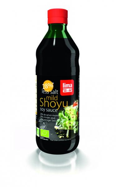 Sos de soia Shoyu bio cu continut redus de sare 250ml 0