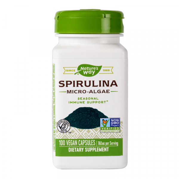 Spirulină Micro Algae 380 mg Nature's Way, 100 capsule 0