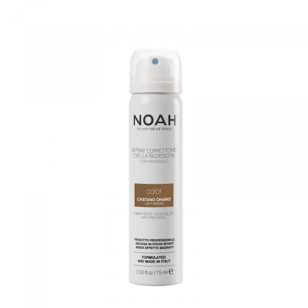 Spray corector cu vitamina B5 pentru acoperirea radacinii parului - CASTANIU DESCHIS, Noah, 75 ml [0]
