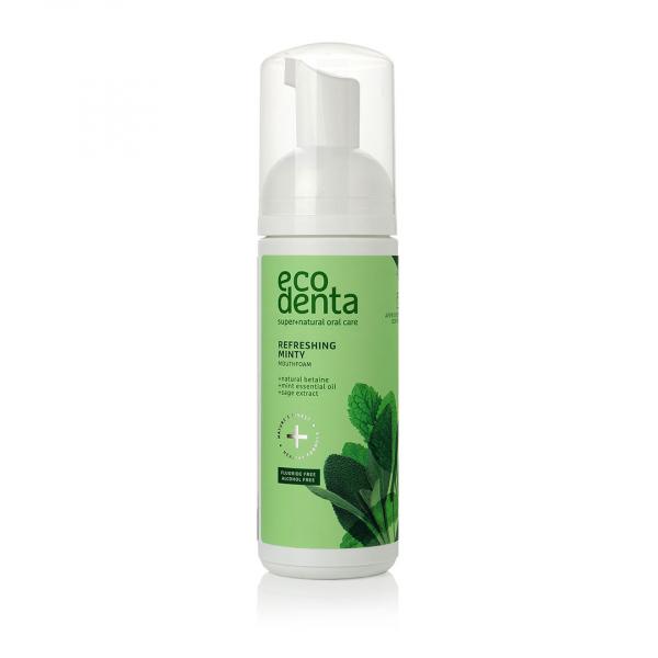 Spuma de gura, cu efect racoritor cu ulei de menta si betaina naturala, Ecodenta, 150ml [0]