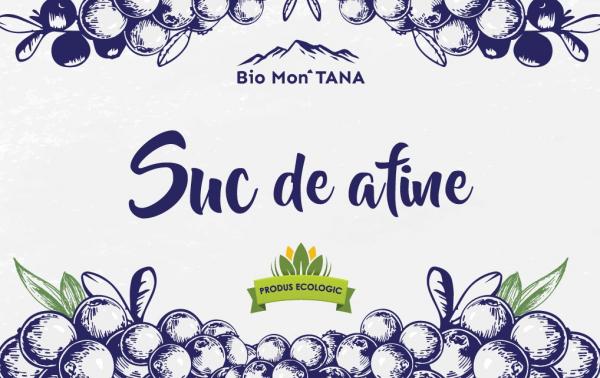 Suc de afine, 330 ml, Bio MonTANA 1