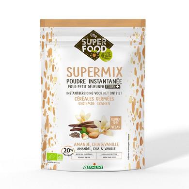 Supermix pentru micul dejun cu migdale, chia si vanilie bio 350g, fara gluten 0