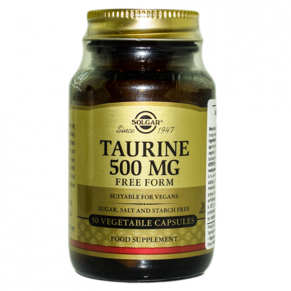 Taurina 500 mg, 50 capsule, Solgar 0