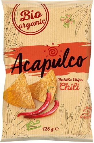 Tortilla bio chips cu chili 0