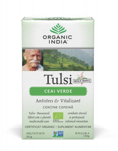 Tulsi (Busuioc Sfant) Ceai Verde 0