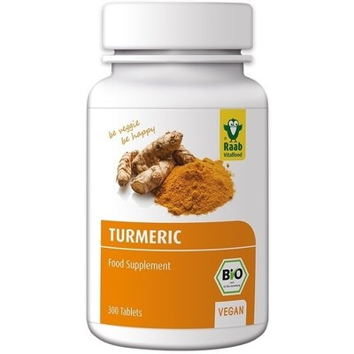Turmeric (curcuma) bio 300mg, 300 tablete vegane RAAB 0