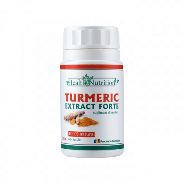 Turmeric Extract Forte 100% natural, 60 capsule, Health Nutrition 0