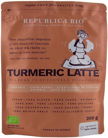 Turmeric Latte, pulbere functionala ecologica 0