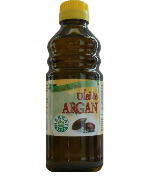 Ulei de Argan presat la rece, 250 ml, Herbavit 0