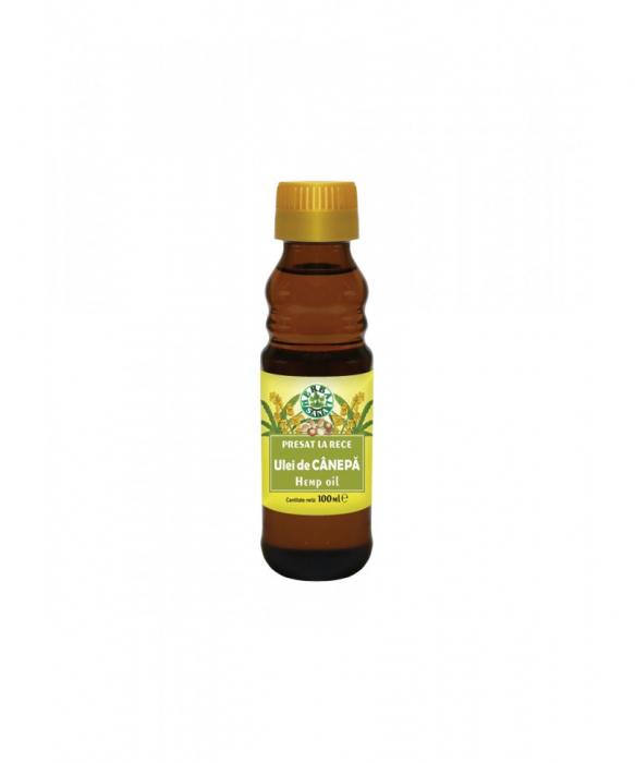 Ulei de canepa presat la rece, 100 ml, Herbavit [2]