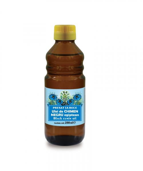 Ulei de chimen negru egiptean presat la rece, 250 ml, Herbavit 0