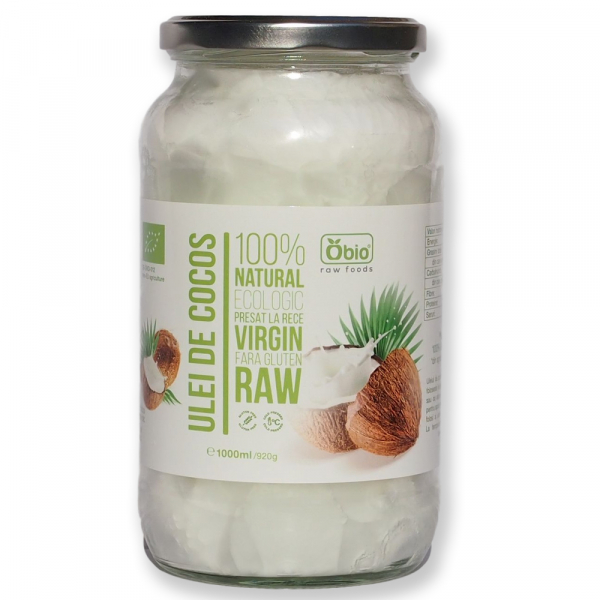 Ulei de cocos virgin raw bio 1000ml 0