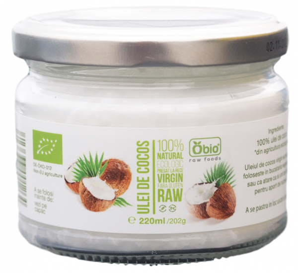 Ulei de cocos virgin raw bio 220ml 0