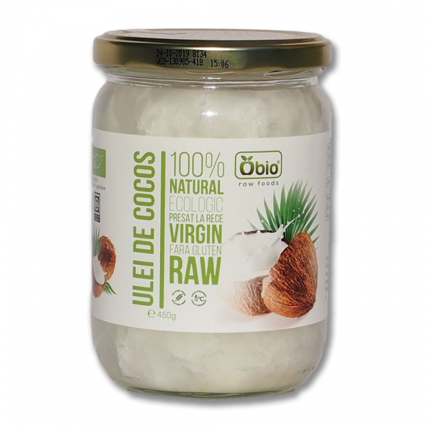 Ulei de cocos virgin raw bio 460g / 500ml 0