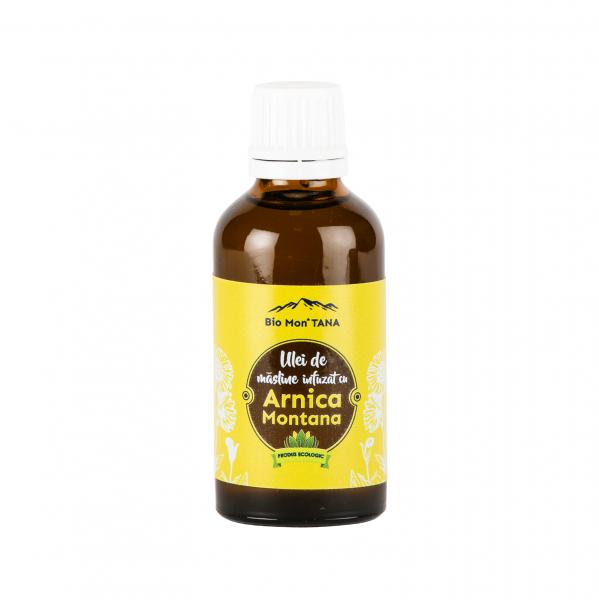 Ulei de masline infuzat cu Arnica Montana, 50 ml, Bio MonTANA 0