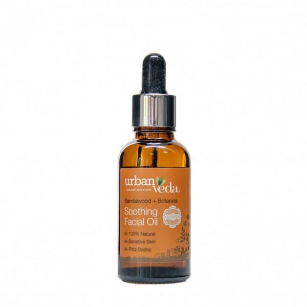 Ulei facial cu extract de lemn de santal organic - ten sensibil, Soothing - Urban Veda, 30 ml 0